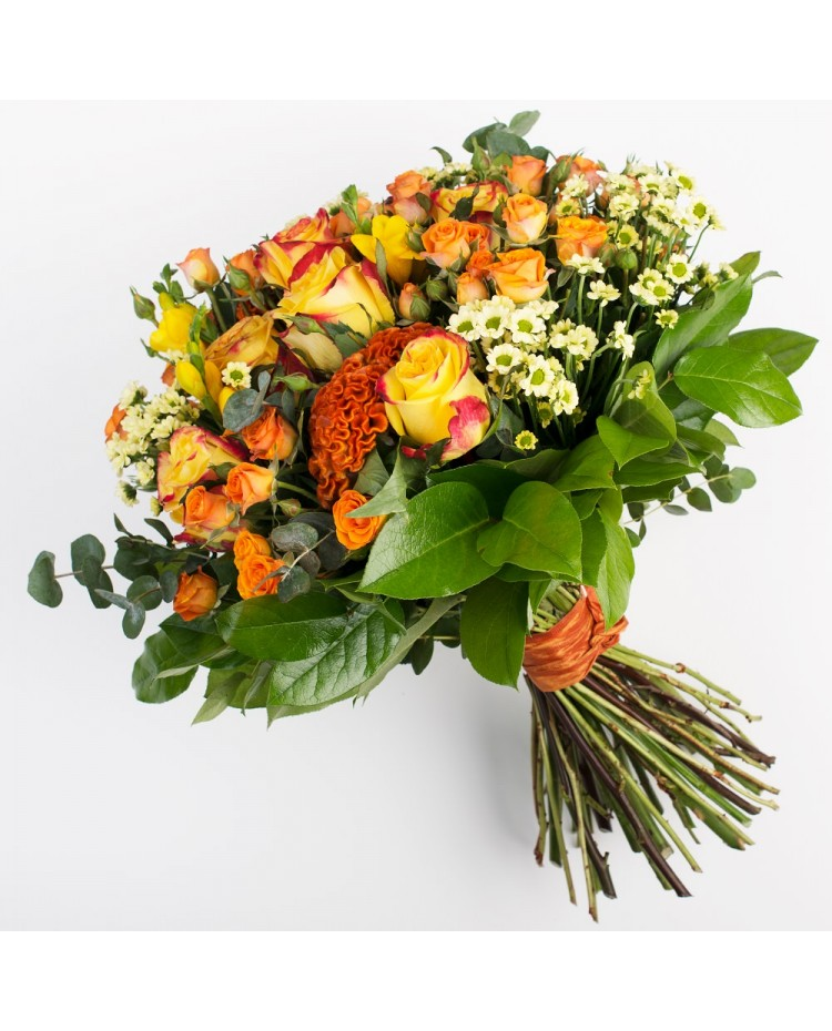 Bouquet with caramel celosia