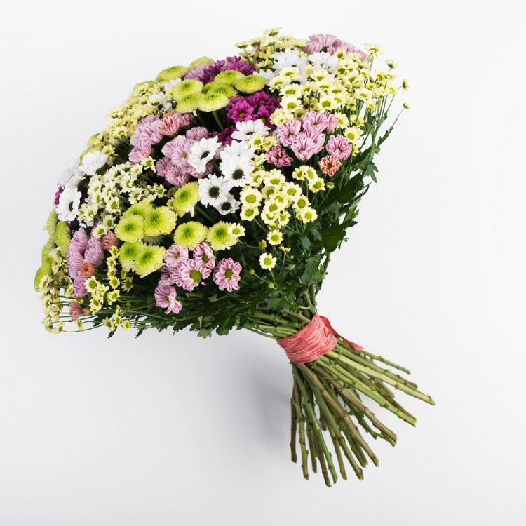 Beautiful Bouquet of playful chrysanthemum santini